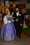 President and First Lady Lincoln, portrayed by Bonnie and Fred Priebe