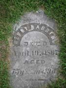 Baptist Cemetery A-B - Plymouth Historical Museum - barber_henry_tomb