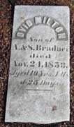 Baptist Cemetery A-B - Plymouth Historical Museum - bradner_ovid_m_tomb