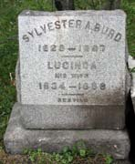 Baptist Cemetery A-B - Plymouth Historical Museum - burd_sylvester_lucinda_tomb
