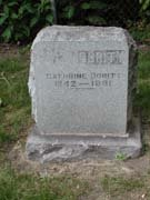 Baptist Cemetery C-D - Plymouth Historical Museum - dority_cathrine_tomb