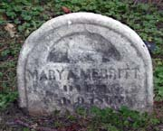 Baptist Cemetery M-N-P - Plymouth Historical Museum - merritt_mary_a_tomb