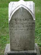 Baptist Cemetery R-S-T - Plymouth Historical Museum - smith_lyman_tomb