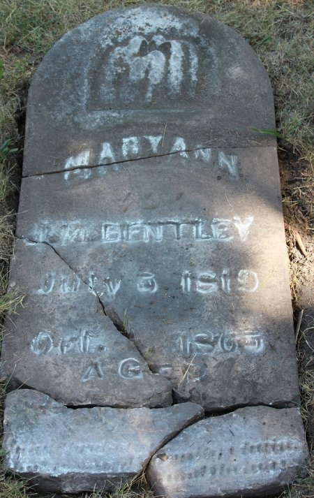 Baptist Cemetery A-B - Plymouth Historical Museum - bentley_mary_ann_tomb